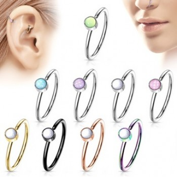 Illuminating Stone Nose Hoop Cartilage Ear Ring