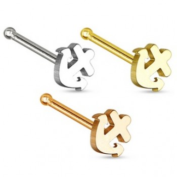 Anchor Nose Stud