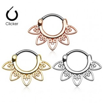 Fancy Gem Septum Clicker