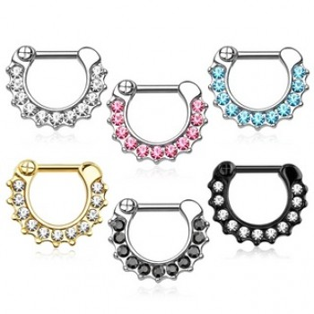 Gem Septum Clicker Ring