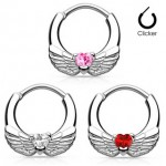 Heart Wing Septum Clicker