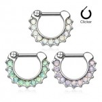 Opalite Septum Clicker