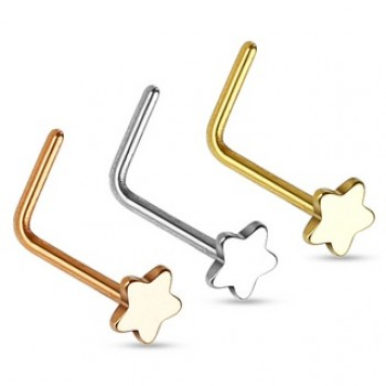 Star L Bend Nose Stud