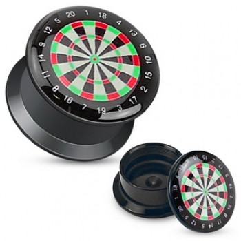 Dart Board Ear Plug Tunnel