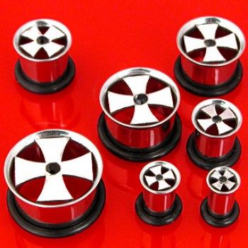 Iron Cross Ear Plug