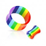 Gay Pride Saddle Ear Plug