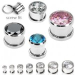 Gem Screw Ear Tunnel