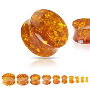 Synthetic Amber Saddle