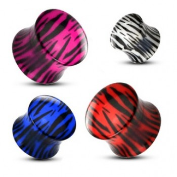 Tiger Print Saddle Ear Plug