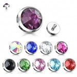 Dermal Anchor Internally Threaded Gem Dome