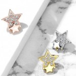 CZ Sun Dermal Anchor Top Internally Threaded