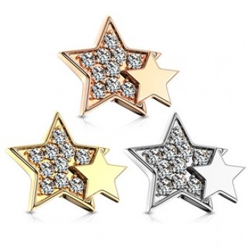 CZ Star Dermal Anchor Internally Threaded Top