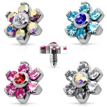 Dermal Anchor Internally Threaded Spare Part Flower