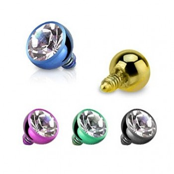 Dermal Anchor Internally Threaded CZ Ball