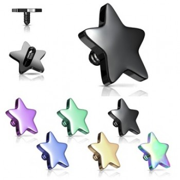 Star Dermal Anchor Internally Threaded