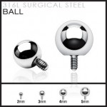 Dermal Anchor Internally Threaded Ball