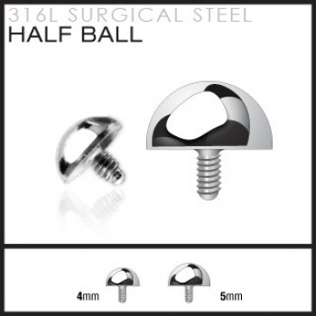 Dermal Anchor Internally Threaded Half Ball