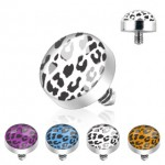 Dermal Anchor Internally Threaded Leopard Dome