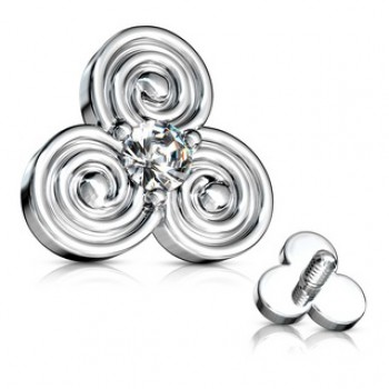 CZ Spiral Dermal Anchor Internally Threaded Top