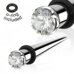 Prong Gem Ear Taper
