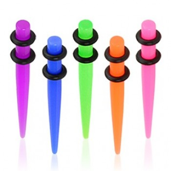UV Neon Acrylic Ear Taper