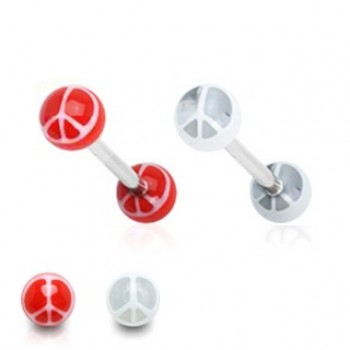Peace Logo Tongue Bar