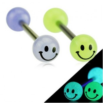 Glow Smile Face Tongue Bar